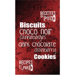 Biscuits choco noir canneberge